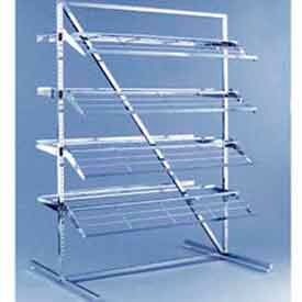 K48 T Style Adjustable Shoe Rack - Chrome