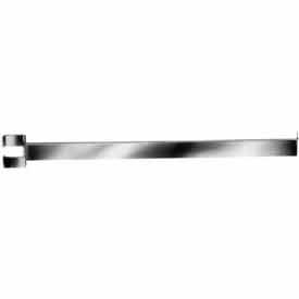 "RV/16 16"" Twist-On Straight Arm For Rectangular Tubing Garment Rack - Chrome"