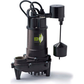 eco-flo ecd50v submersible sump pump, cast iron, 1/2 hp, 4400 gph Eco-Flo ECD50V Submersible Sump Pump, Cast Iron, 1/2 HP, 4400 GPH