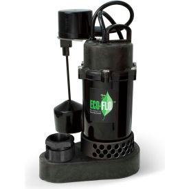 eco-flo spp50v submersible sump pump, thermoplastic, 1/2 hp, 58 gpm Eco-Flo SPP50V Submersible Sump Pump, Thermoplastic, 1/2 HP, 58 GPM