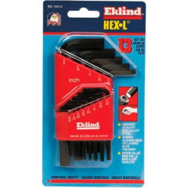 "10113 Eklind 10113 .050-3/8"" 13 Pc. Short Arm SAE Hex Key Set"