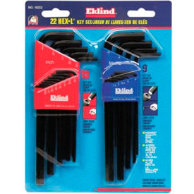"10222 Eklind 10222 .05-3/8"" & 1.5-10MM 22Pc. Metric & SAE Hex Key Set"