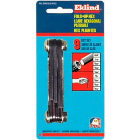 "20912 Eklind 20912 9Pc. .050-3/16"" 9Pc. SAE Fold Up Hex Key Set"