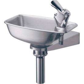 EDF15R Elkay, Wall Mounted Drinking Fountain, Bracket Style, Stainless Steel, EDF15R