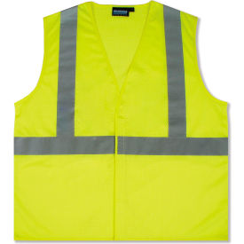 61428 Aware Wear; ANSI Class 2 Economy Mesh Vest, 61428 - Lime, Size 2XL