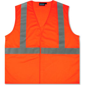 61434 Aware Wear; ANSI Class 2 Economy Mesh Vest, 61434 - Orange, Size L