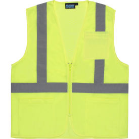 61650 Aware Wear; ANSI Class 2 Economy Mesh Vest, 61650 - Lime, Size 2XL