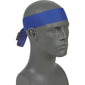 12307 Ergodyne; Chill-Its; 6700 Evaporative Cooling Bandana - Tie, Solid Blue, One Size