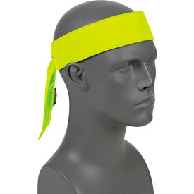 12566 Ergodyne; Chill-Its; 6700CT Evap. Cooling Bandana w/ Built-In Cooling Towel - Tie, Lime