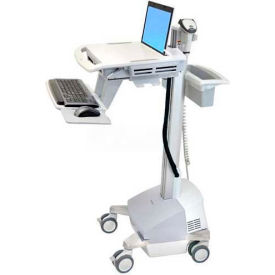 ergotron® sv42-6101-1 styleview® medical laptop cart, sla powered Ergotron® SV42-6101-1 StyleView® Medical Laptop Cart, SLA Powered