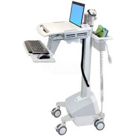 ergotron® sv42-6102-1 styleview® medical laptop cart, life powered Ergotron® SV42-6102-1 StyleView® Medical Laptop Cart, LiFe Powered