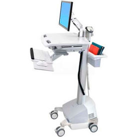 ergotron® sv42-6201-1 styleview® medical cart with lcd arm, sla powered Ergotron® SV42-6201-1 StyleView® Medical Cart with LCD Arm, SLA Powered