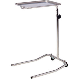 clinton™ ms-23 single post stainless steel mayo stand Clinton™ MS-23 Single Post Stainless Steel Mayo Stand