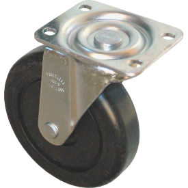 "rubbermaid® 5"" swivel plate caster with hardware includes (1) caster, (4) washers and (4) nuts Rubbermaid® 5"" Swivel Plate Caster with Hardware Includes (1) Caster, (4) Washers and (4) Nuts"