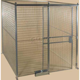 QWK12128-4 Qwik-Fence; Wire Mesh Pre-Designed, 4 Sided Room Kit, W/O Roof 12W X 12D X 8H, W/Slide Door