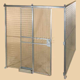 QWK16168-2 Qwik-Fence; Wire Mesh Pre-Designed, 2 Sided Room Kit, W/O Roof 16W X 16D X 8H, W/Slide Door