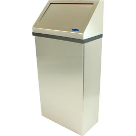 303-3NL Frost Wall Mounted Stainless Steel Waste Receptacle, 11 Gallon, 303-3NL