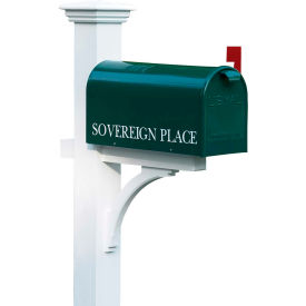 "good directions 999197 lazy hill farm designs bristol mailbox - 8""w x 21""d x 10""h, green"