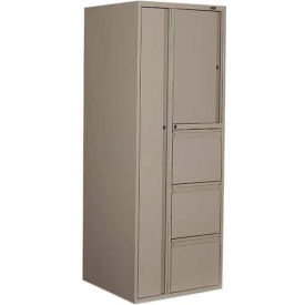 "9300P Series Personal Tower, 3 File Drawers On Left, 24""W x 24""D x 65-1/4""H, Grey"