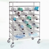 "CCB77CB Nexel; Chrome Catheter Cart with Baskets, 5"" Swivel Casters (2 with Brakes), 48""W x 24""L x 68""H"