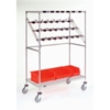 "CPC2448CB Nexel; Chrome Catheter Procedure Cart, 5"" Swivel Casters (2 with Brakes), 48""W x 24""L x 68""H"