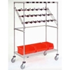 "CPC2460CB Nexel; Chrome Catheter Procedure Cart, 5"" Swivel Casters (2 with Brakes), 24""L x 60""W x 68""H"