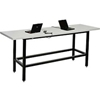 "238329 Standing Height Table with Power - 96""L x 30""W x 42""H  - Laminate - Gray"