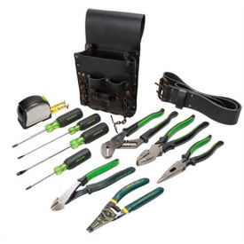0159-13 Greenlee 0159-13 Electricians Tool Kit, 12 Pc