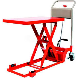 "HLH-100-80L HAMACO Ultra-Low Type Work Cart with Scissor Lift HLH-100-80L - 28.3"" x 15.7"" - 220 Lb. Capacity"