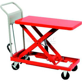 "HLH-200 HAMACO Standard Work Cart with Scissor Lift HLH-200 - 31.5""L x 19.7""W Table - 440 Lb. Capacity"