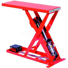 "MLSB-100-2507 HAMACO All-Electric Lift Table MLSB-100-2507 - 27.6""L x 9.8""W Table - 220 Lb. Cap. - SPM Motor"