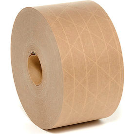 "GB3X375 Heavy-Duty Reinforced Water Activated Kraft Tape 3"" x 375 Tan"