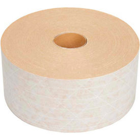 "HTW72X375 Light Duty Reinforced Water Activated Kraft Tape 3"" x 375 White"