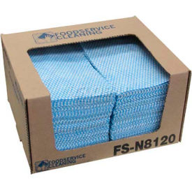 "N-F110QCB TaskBrand; Counter Food Service Towel, Blue, 12"" x 21"", 200/Case, N-F110QCB"