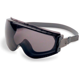 uvex® stealth safety goggles, gray frame, gray lens, scratch-resistant, hard coat, anti-fog