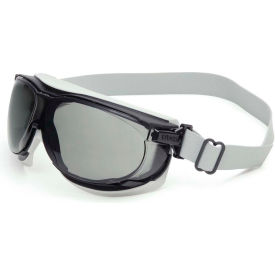 S1651D Uvex; Carbonvision; S1651D Safety Goggles, Black & Gray Frame, Gray Lens