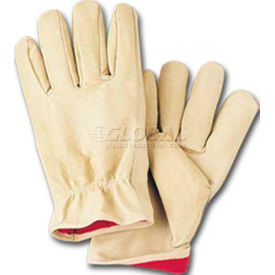 comfitwear® full grain leather lined gloves, natural, medium, 1 dozen