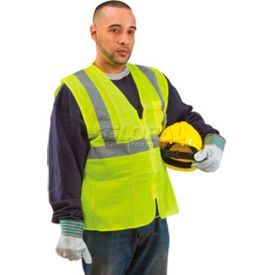 comfitwear® class 2 safety vest, neon yellow, pvc coated, xl