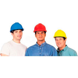 comfitwear® hard hat for head protection, polyethylene, red