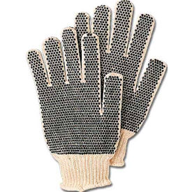 comfitwear® dotted knit gloves with plastic dots on both sides, natural, one size, 1 dozen