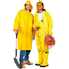 comfitwear® 2-piece 48 inch raincoat, yellow, polyester, 5xl