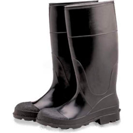 comfitwear® industrial steel toe knee boots, size 6, vinyl, black, 1-pair