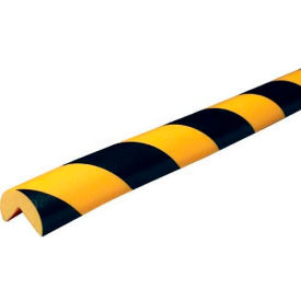 "60-6700 Knuffi 90-Degree Corner Bumper Guard, Type A, 196-3/4""L x 1-9/16""W, Black & Yellow, 60-6700"