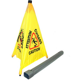 "9182 Impact; Pop Up Safety Cone 31"" Yellow/Black, Multi-Lingual - 9182"