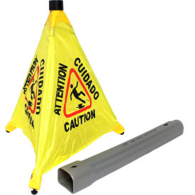 "9183 Impact; Pop Up Safety Cone 20"" Yellow/Black, Multi-Lingual - 9183"