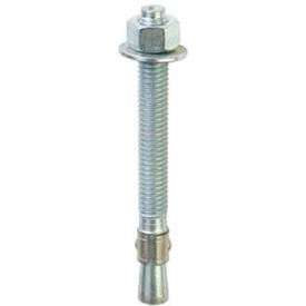 "13016 ITW Red Head 13016 - 3/8"" x 3-3/4"" Wedge Anchor - Steel - Zinc - Made In USA - Pkg of 15"