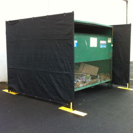 RF3-15DB Dumpster Enclosure 3 Sided - 15 x 7-1/2