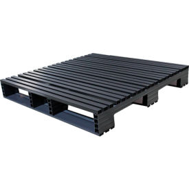 Jifram Extrusions 05000400 Plastic Pallet 45 x 45 Four-Way Entry 3000 Fork Capacity