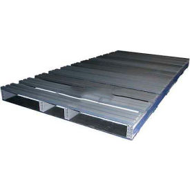Rackable Extruded Plastic Pallet, 96x48, 4-Way Entry, 3000 Lb Fork Capacity