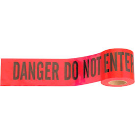 "3322 300 X 3"" Red ""Danger Do Not Enter"" Tape, 1 Roll"